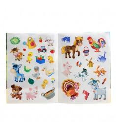 Умка домашние животные многоразовые наклейки для малышей