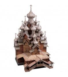 Сборная модель архитектурные памятники церковь преображения господня Умная Бумага 151