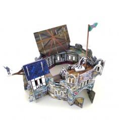 Сборная модель из картона средневековый город круглая башня Умная Бумага 220