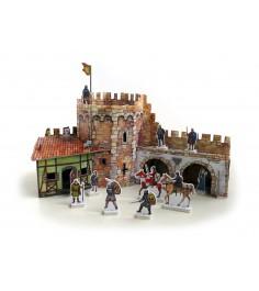 Сборная модель из картона средневековый город угловая башня Умная Бумага 253