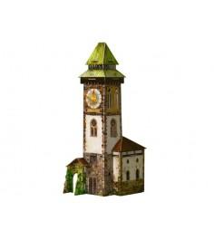 Сборная модель из картона средневековый город башня с часами Умная Бумага 277
