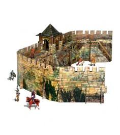 Сборная модель из картона средневековый город крепостная стена Умная Бумага 286