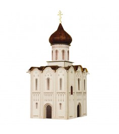 Сборная модель из картона церковь покрова на нерли россия 1:87 Умная Бумага 315