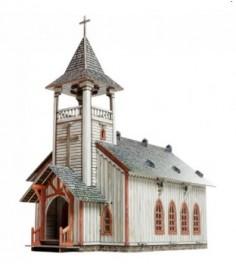 Сборная модель из картона дикий запад церковь Умная бумага Р94426