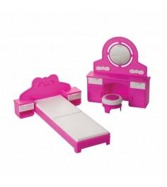 Набор мебели для кукол зефир спальня Огонек 1406