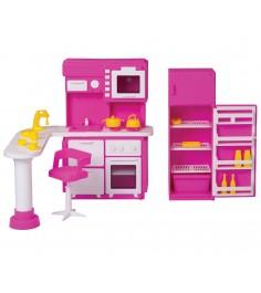 Кукольная мебель для кухни зефир Огонек 1409