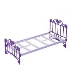 Кроватка для кукол фиолетовая Огонек 1424