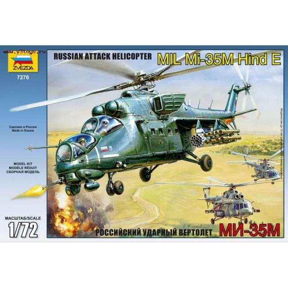 Модель для сборки боевой вертолет ми 35м 1:72 Звезда 7276